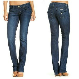 HUDSON CARLY MIDRISE STRAIGHT JEANS